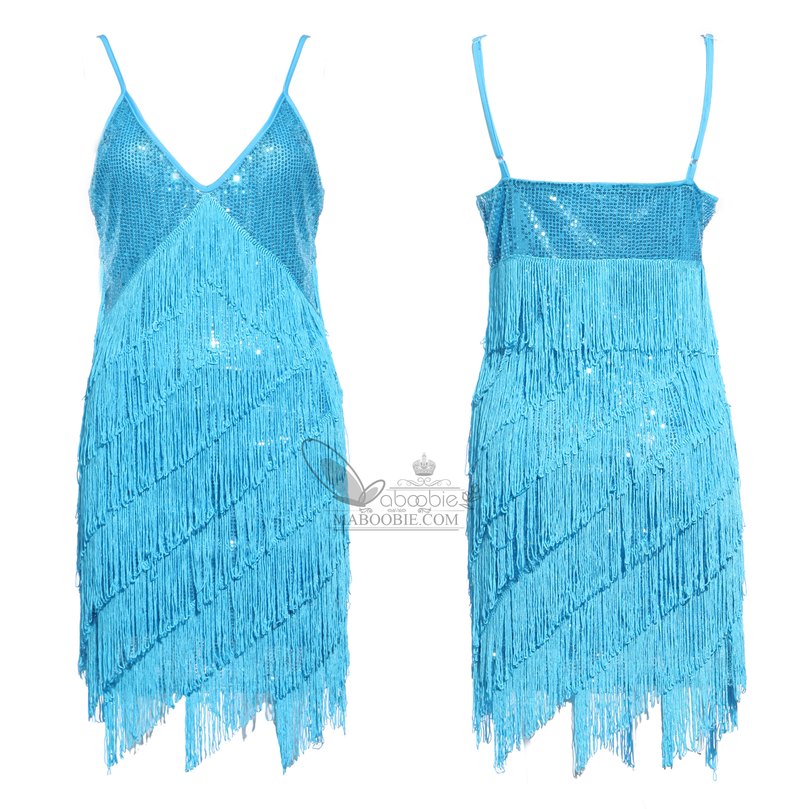 Retro 20s 30s Flapper Sequin Fringed Cocktail Party Dress ...