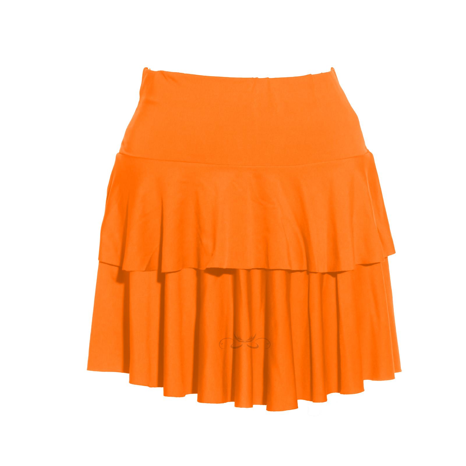 damen minirock partyrock sportrock sommerrock laufrock kurz orange rock ebay. Black Bedroom Furniture Sets. Home Design Ideas