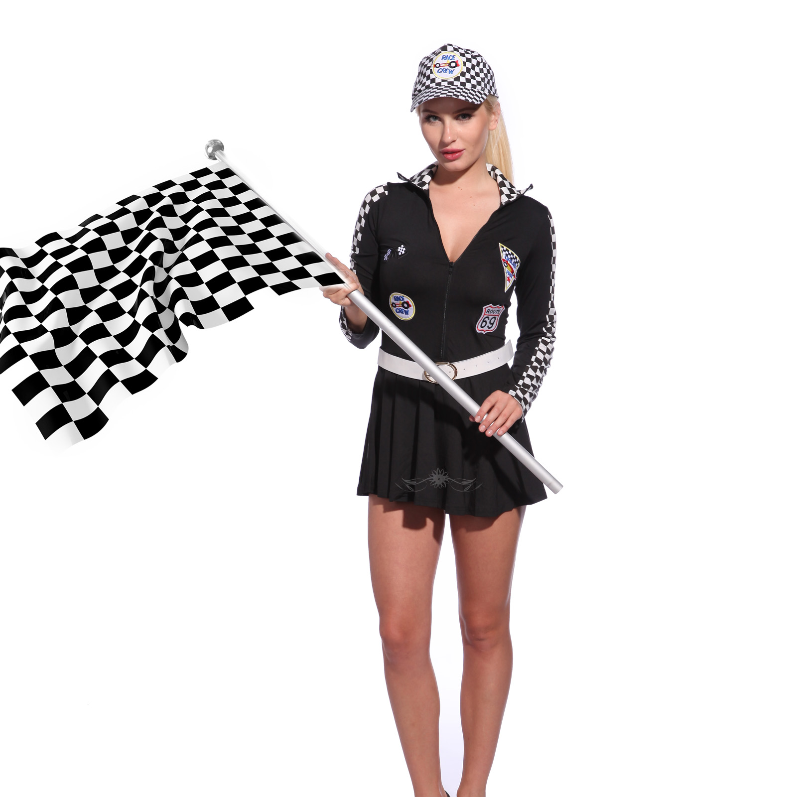 Sexy Women Grid F1 Grand Prix Super Car Racer Racing Driver Fancy Dress Outfit | eBay