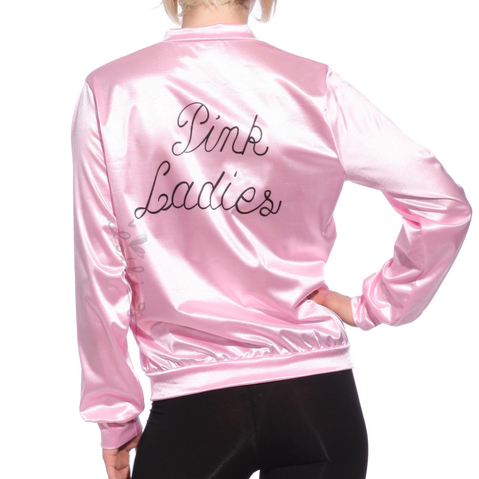 Retro 1950s Classic Movie Satin Pink Ladies Jacket Costume Party ...