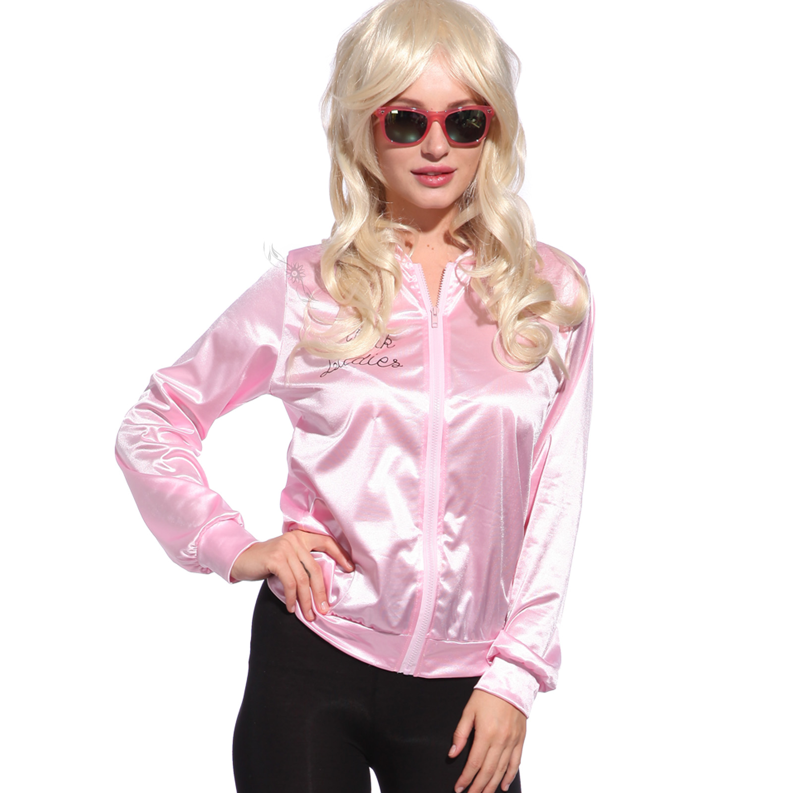 Retro 1950s Grease Pink Ladies Jacket Costume TShirt Party Fancy ...