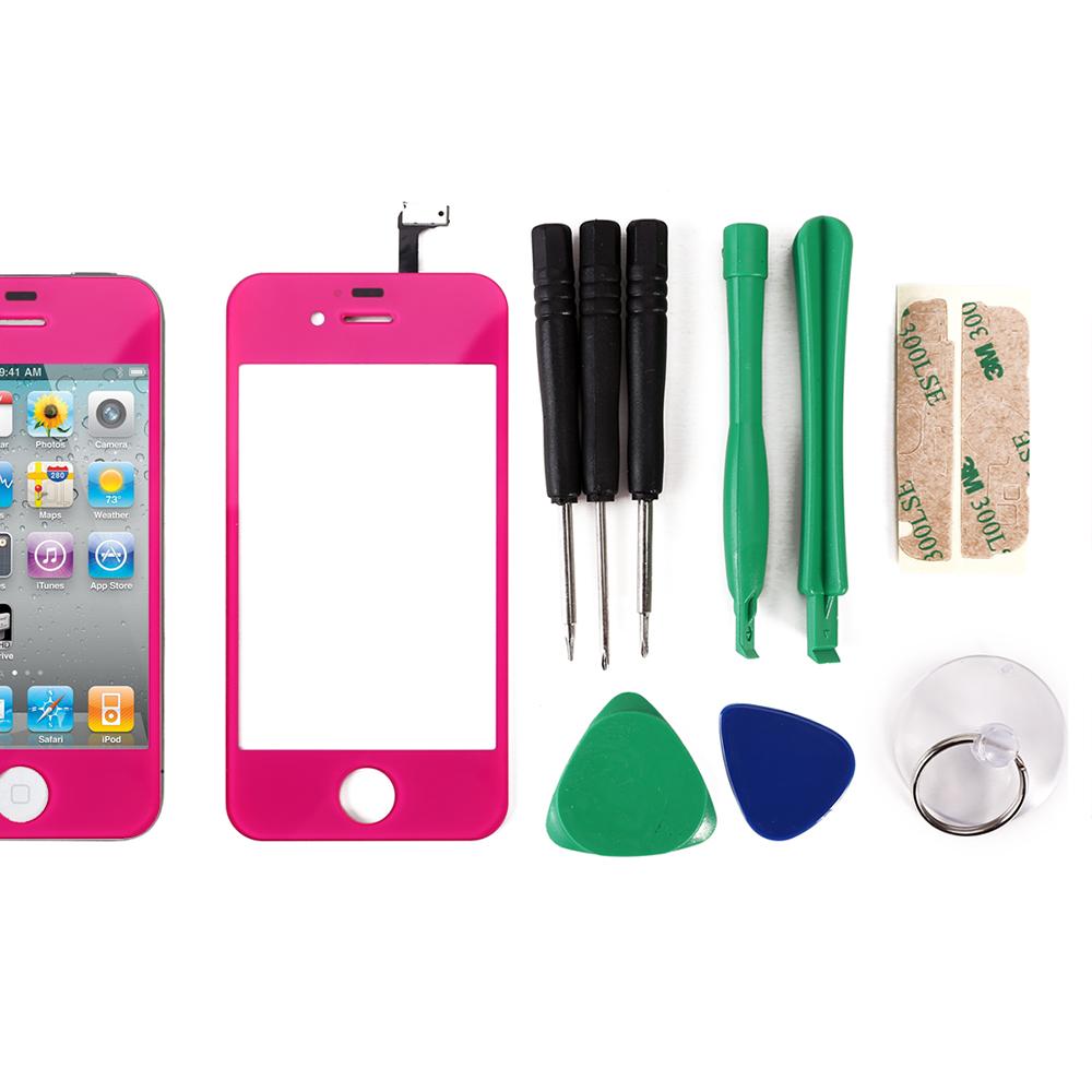 Vitre ecran tactile encadrement cadre rose pour iphone 4s 4 resine glace outi - Paypal paiement differe ...