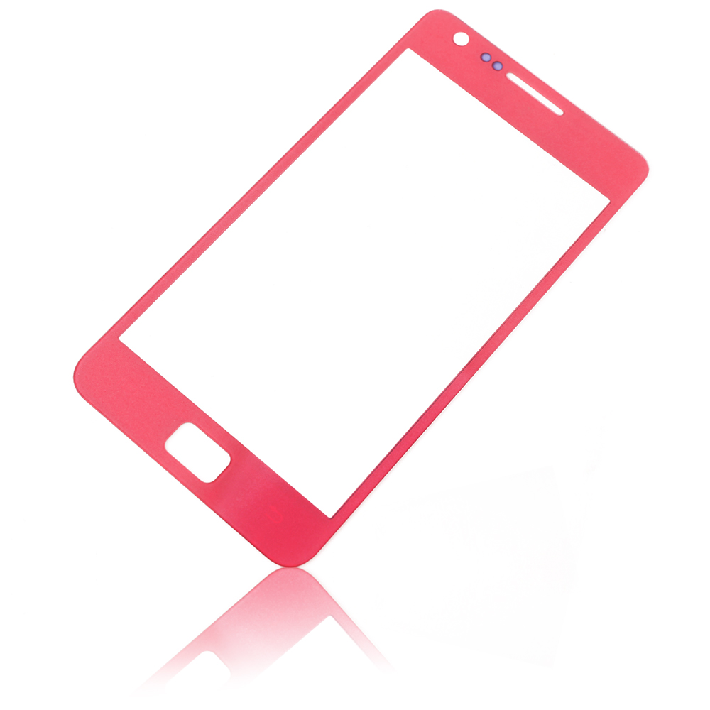pink display glas touchscreen front scheibe f r samsung galaxy s2 i9100 ebay. Black Bedroom Furniture Sets. Home Design Ideas