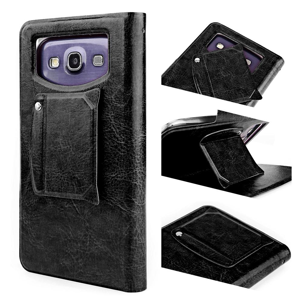 kunstleder tasche f r 4 0 4 5 zoll uniersal flip cover case mit saugnapf schwarz ebay. Black Bedroom Furniture Sets. Home Design Ideas
