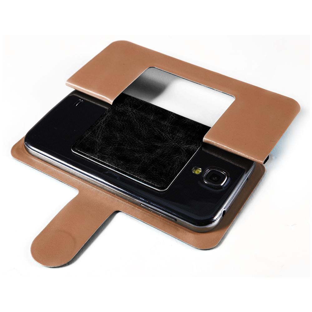 schwarz h lle flip case kleber tasche cover etui f r 4 5 zoll handy smart phone ebay. Black Bedroom Furniture Sets. Home Design Ideas