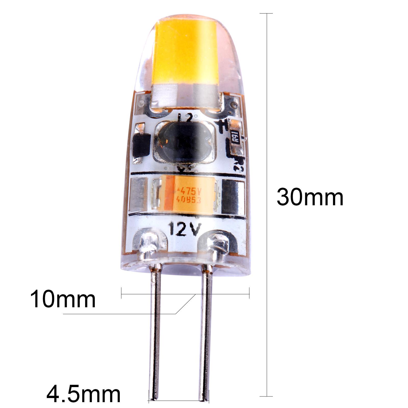 10x ampoules 1 5w led jaune chaud spot bulb 3000k 360 degres angle de faisceau ebay. Black Bedroom Furniture Sets. Home Design Ideas