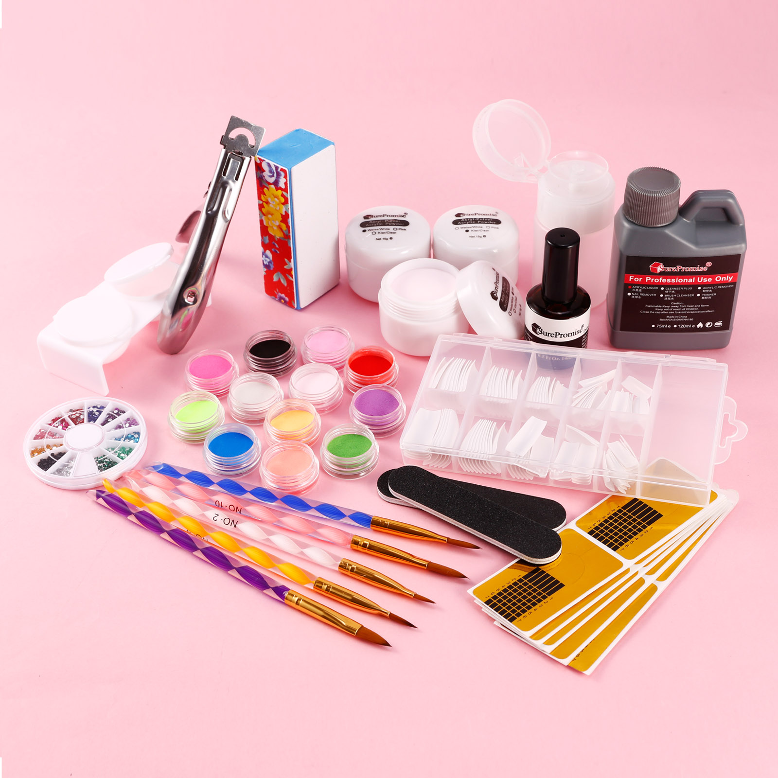 kit manucure extension ongles poudre acrylique resine liquide primer pinceaux ebay. Black Bedroom Furniture Sets. Home Design Ideas