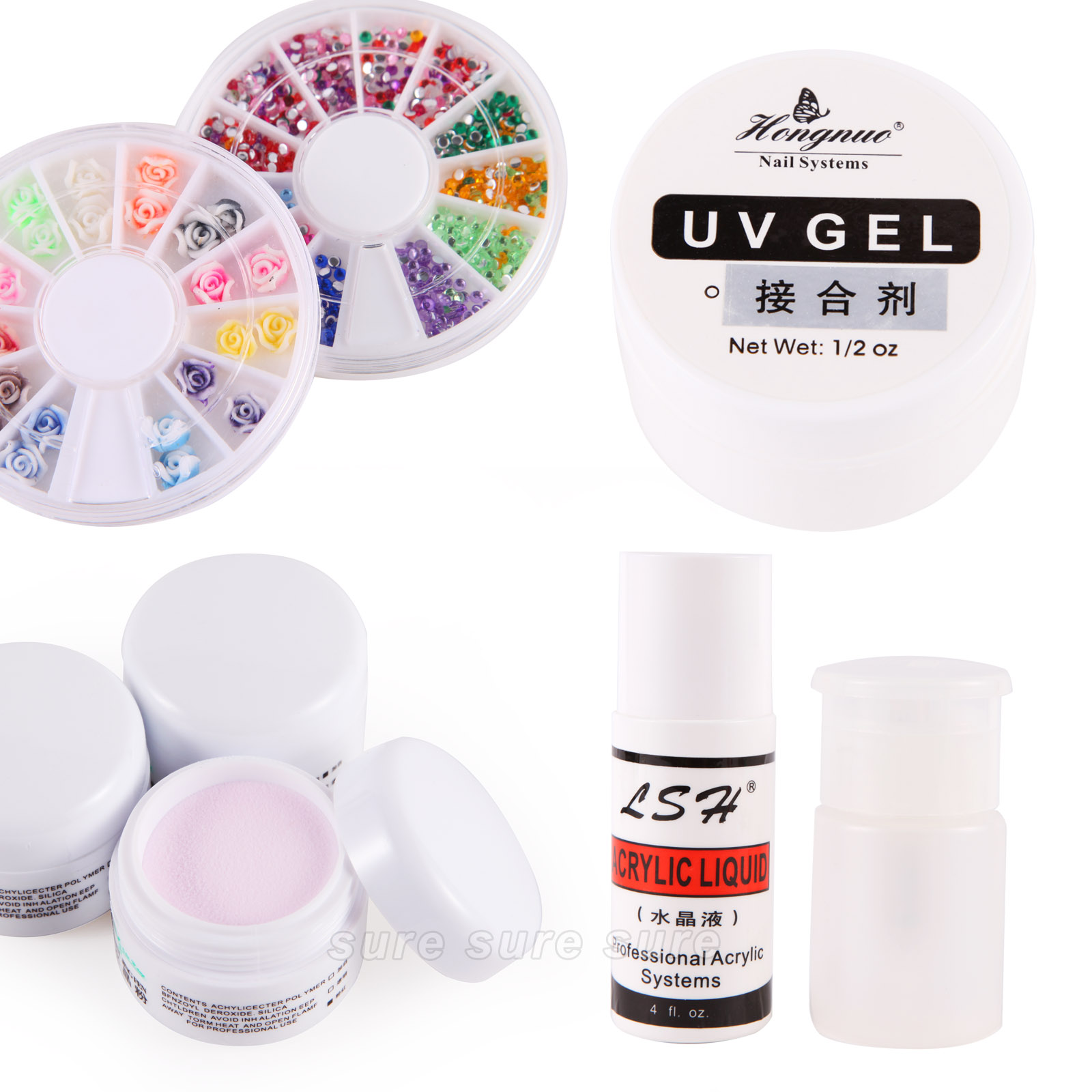 kit manucure uv gel dessin ongles acrylique poudre resine liquide d coration ebay. Black Bedroom Furniture Sets. Home Design Ideas