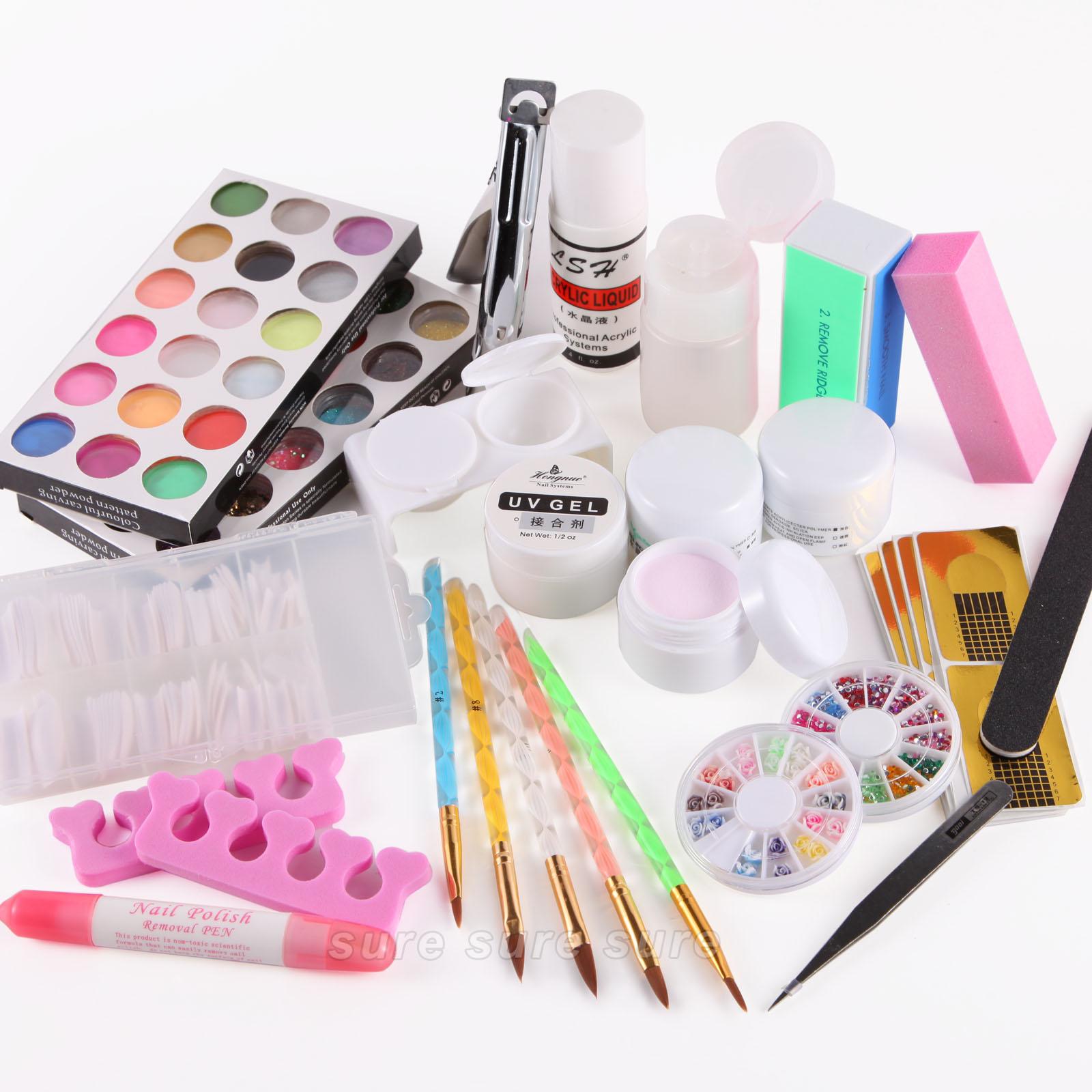 kit ongles resine gel