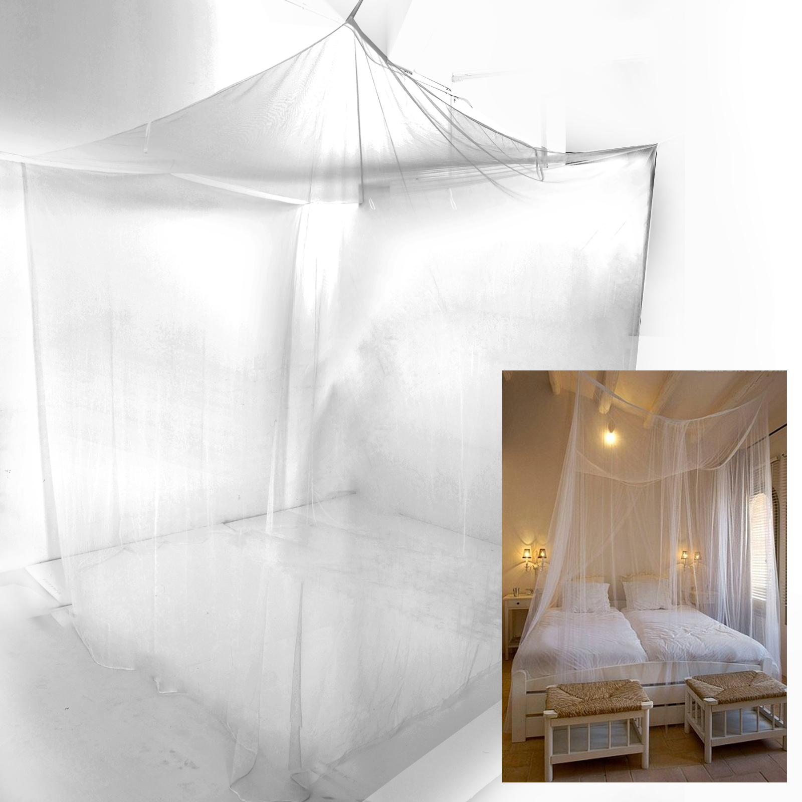 Bed Sheer Panel Canopy Net Mosquito Net Bedroom Insect Curtain Camping Netting Ebay