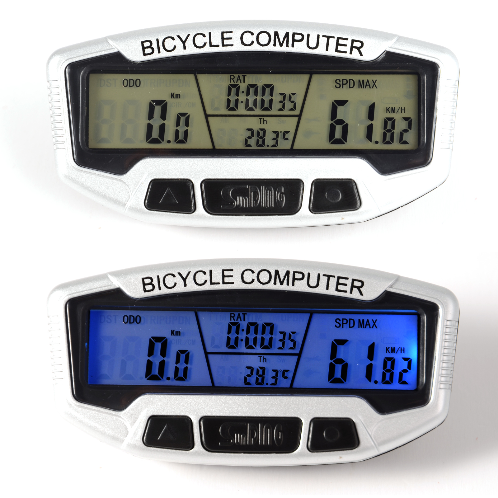 compteur ordinateur velo lcd avec fil kilometrique vitesse etanche odometre ebay. Black Bedroom Furniture Sets. Home Design Ideas