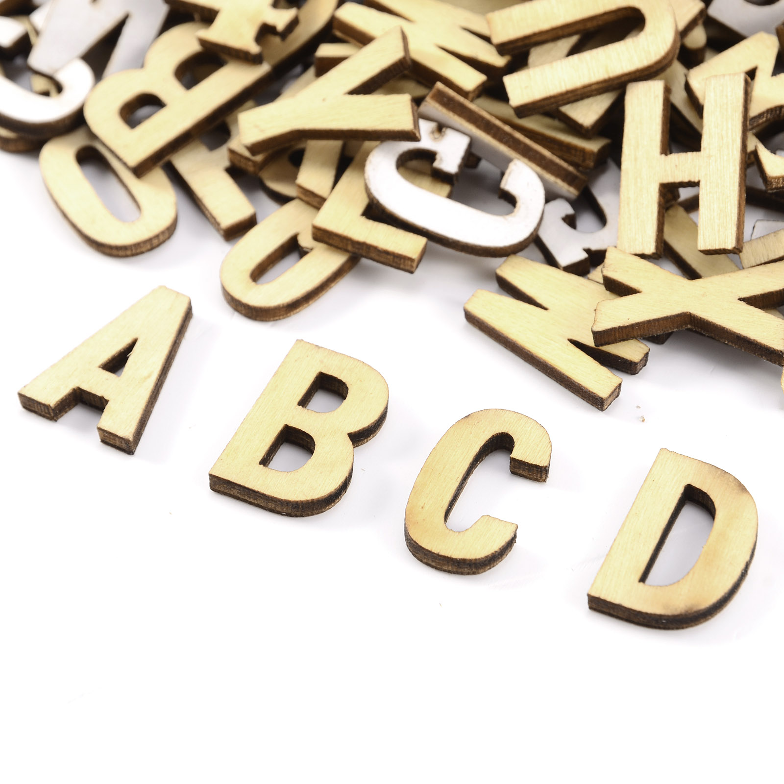 270 plain wooden small letter digits adhesive letters for Small wooden letters for crafts