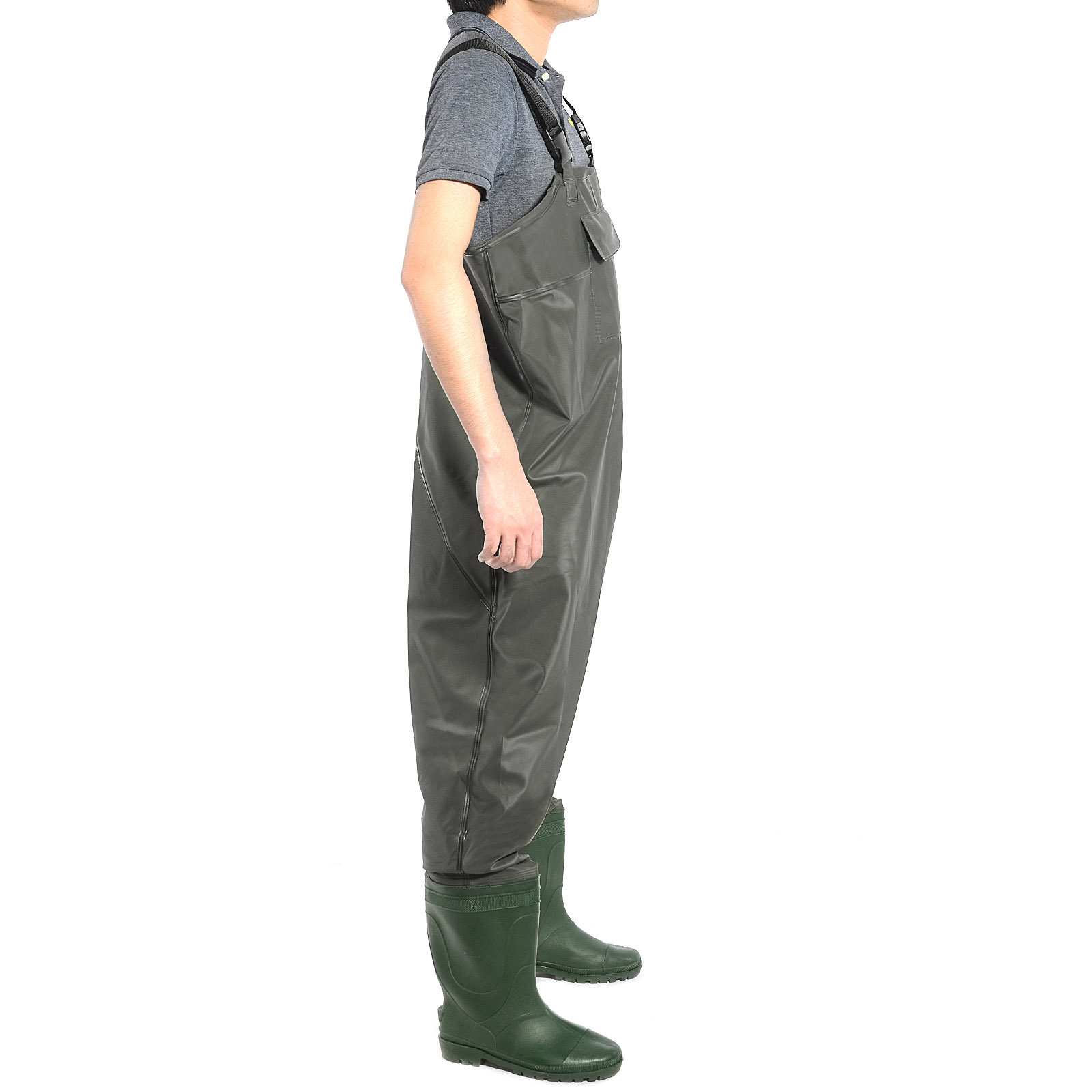 Pvc fishing chest waders waterproof size 8 muck wader fly for Chest waders for fishing