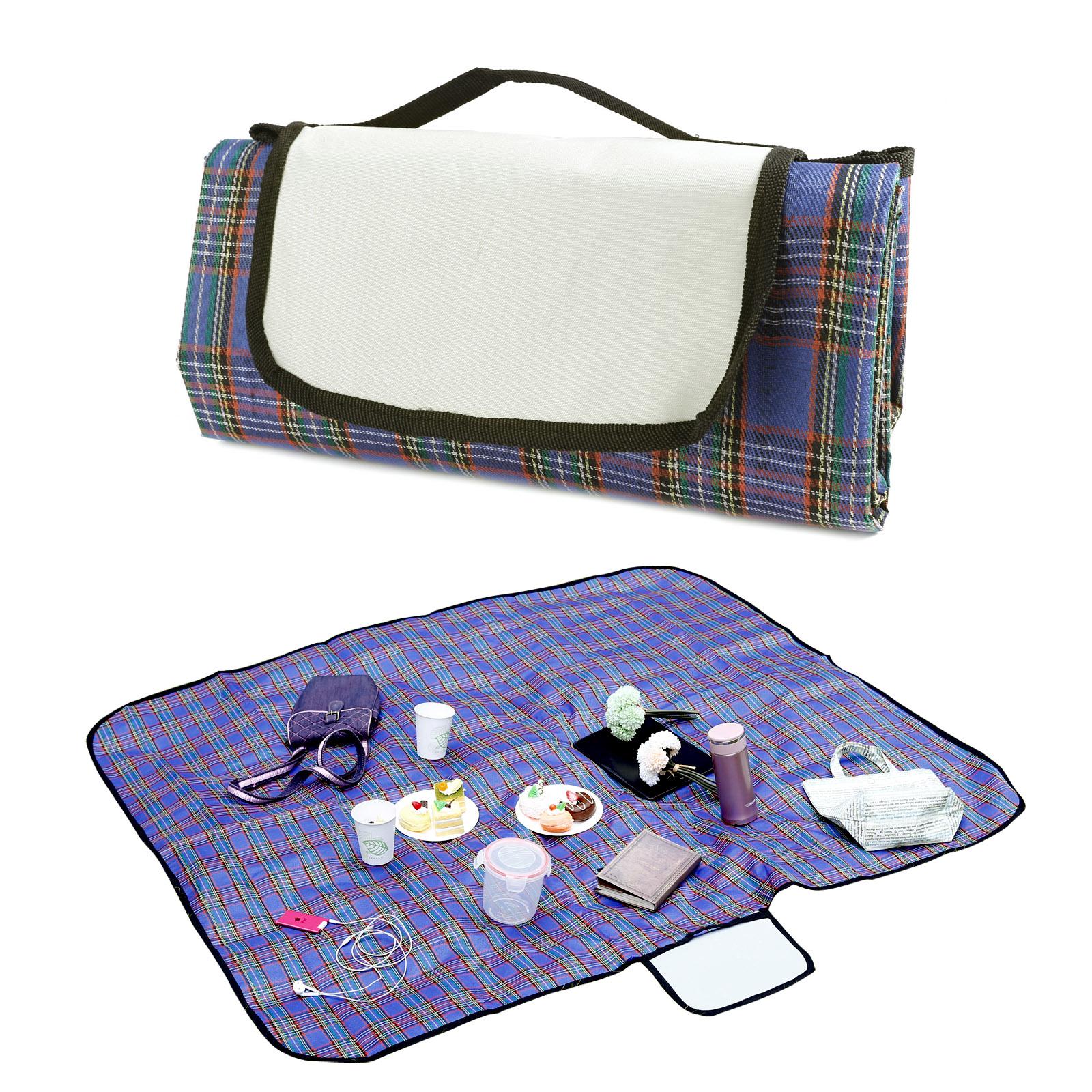 Soft Picnic Blanket Mat Rug Camping Outdoor Beach Festival Waterproof Folding UK
