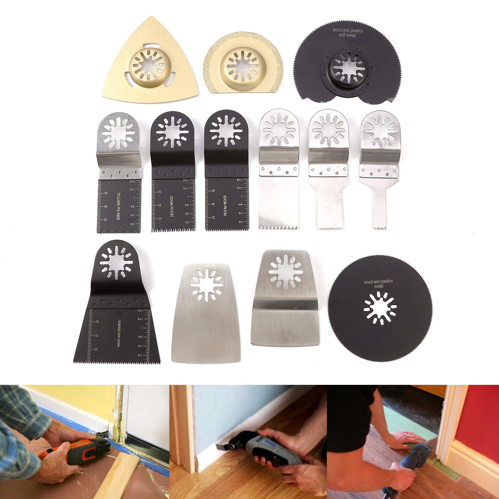 multifunktionswerkzeug zubeh r set 13tlg f r multitool fein bosch multimaster ebay. Black Bedroom Furniture Sets. Home Design Ideas