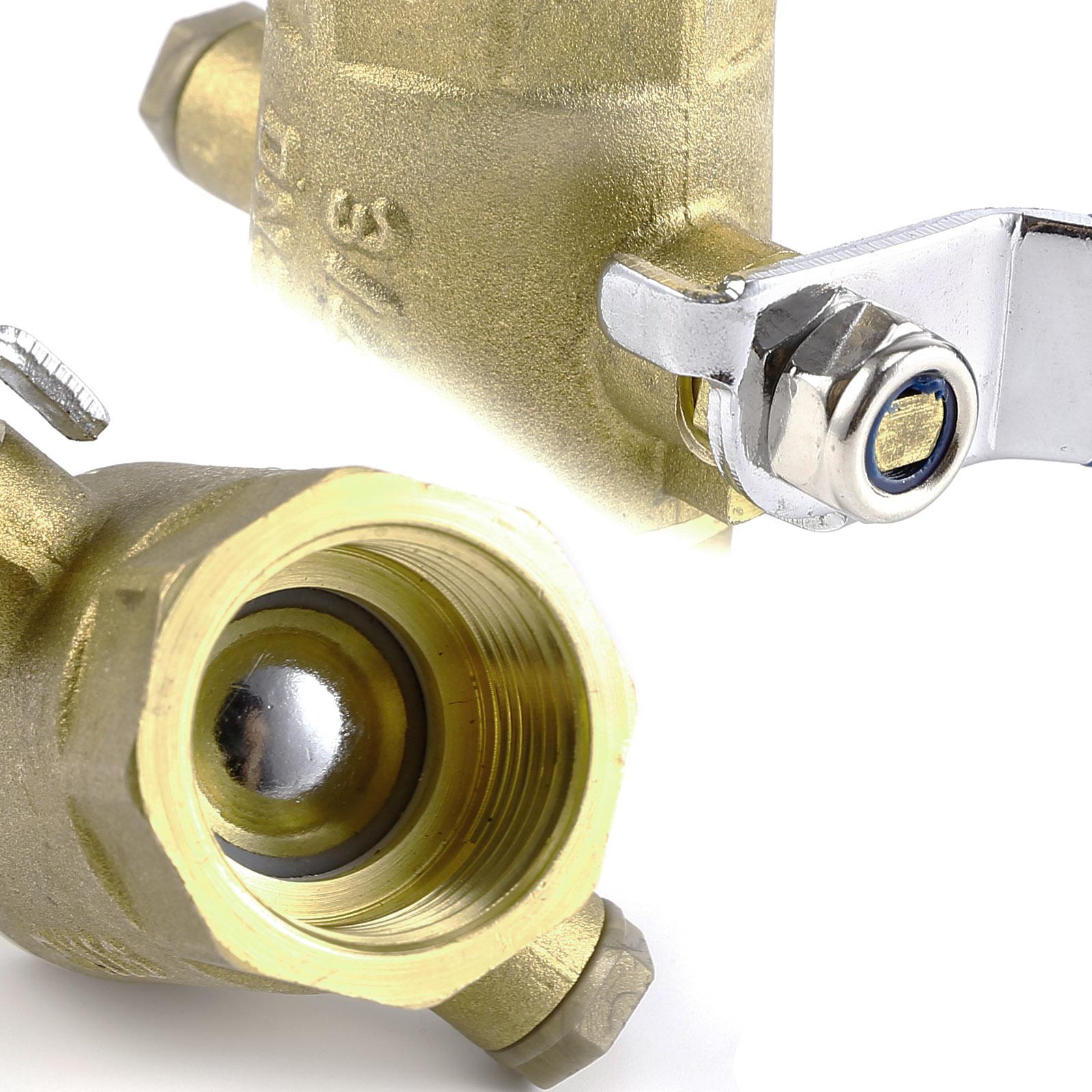 Brass lever ball shut off valve compression fitting gas