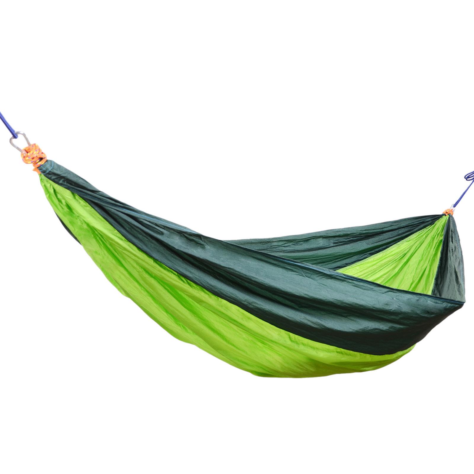 portable parachute nylon tissu hamac deux personnes voyage camping choix ebay. Black Bedroom Furniture Sets. Home Design Ideas
