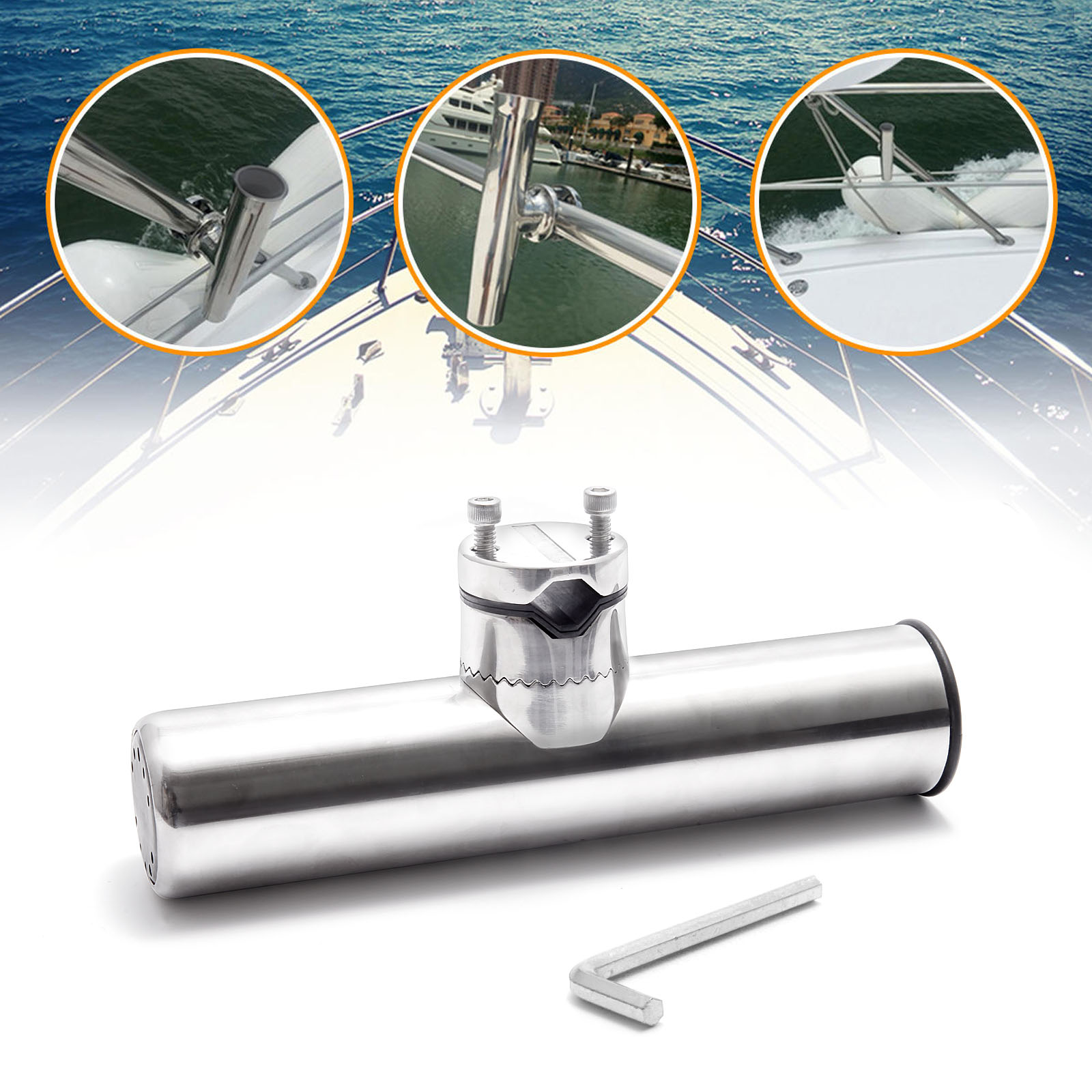 316l stainless steel fishing rod holder boat sea tackle for Fishing pole holders for boats