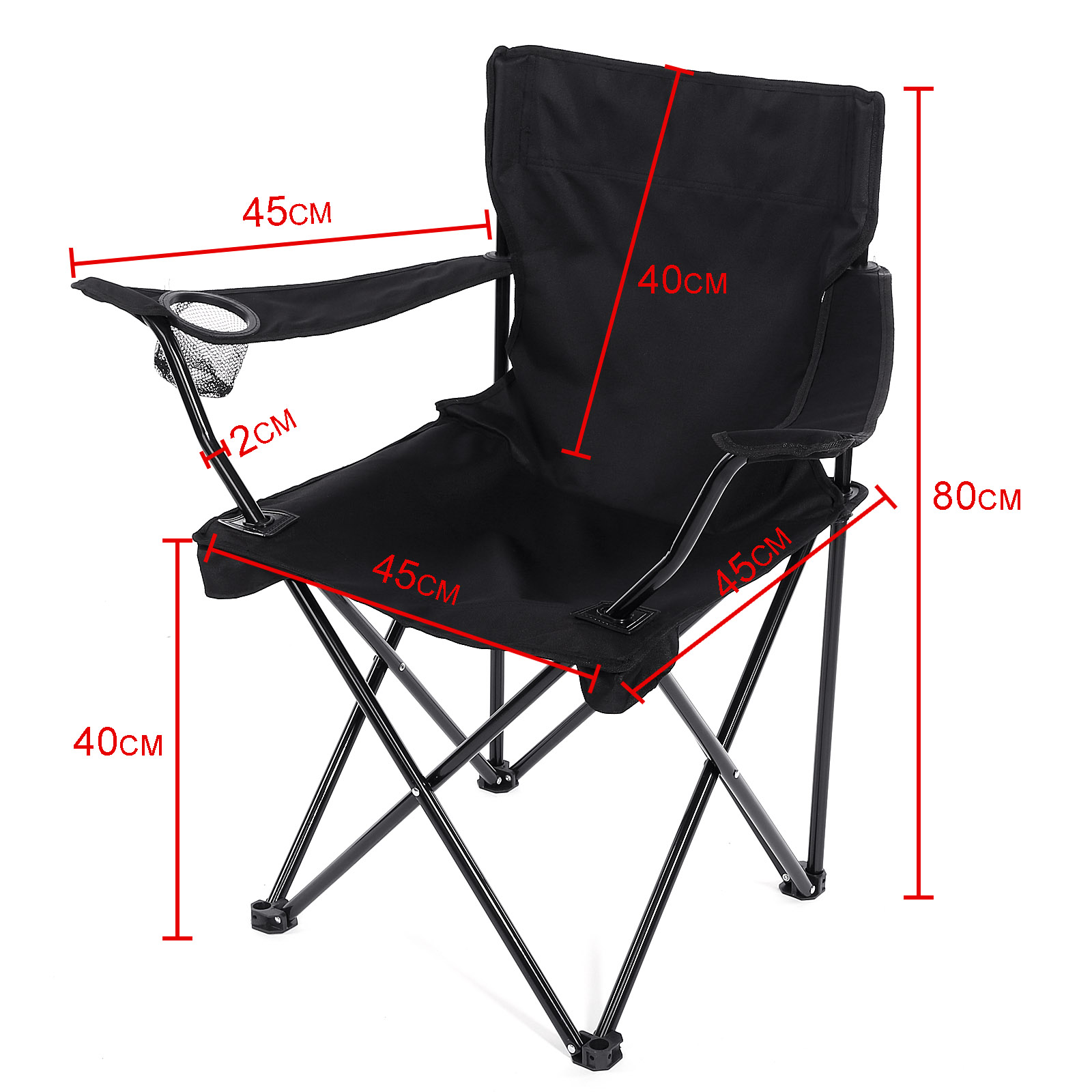 BRAND NEW LIGHTWEIGHT PORTABLE OUTDOOR CAMPING GARDEN FOLDING CHAIR 3 COLOURS
