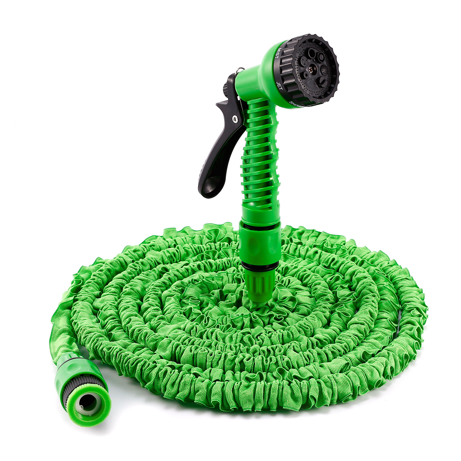 expandable garden hose pipe flexible non kink expanding hosepipe spray gun green ebay