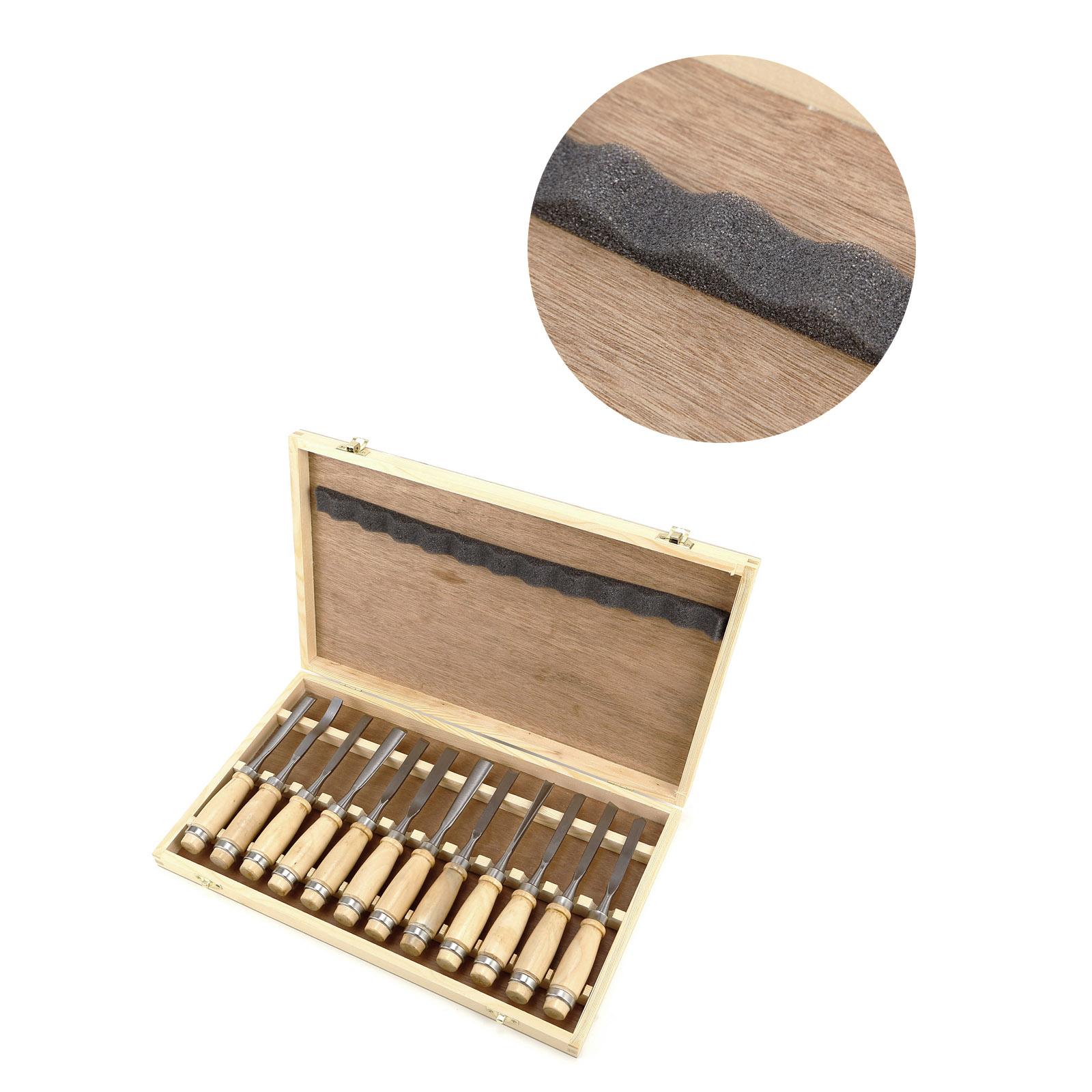 8 12 pcs ciseau bois boite professionnel charpentier. Black Bedroom Furniture Sets. Home Design Ideas
