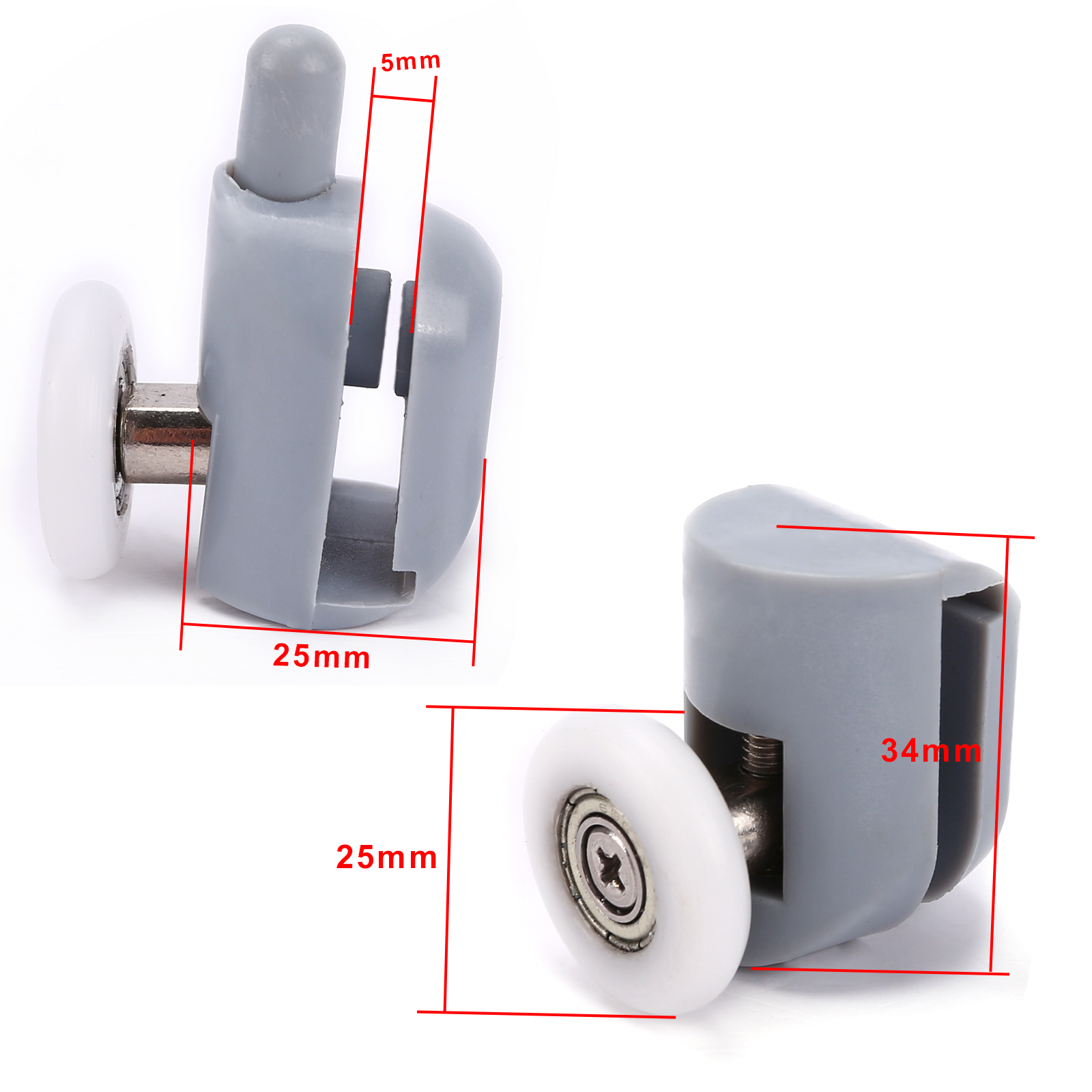 Duscht?r Rollen : Curved Shower Door Rollers Wheels