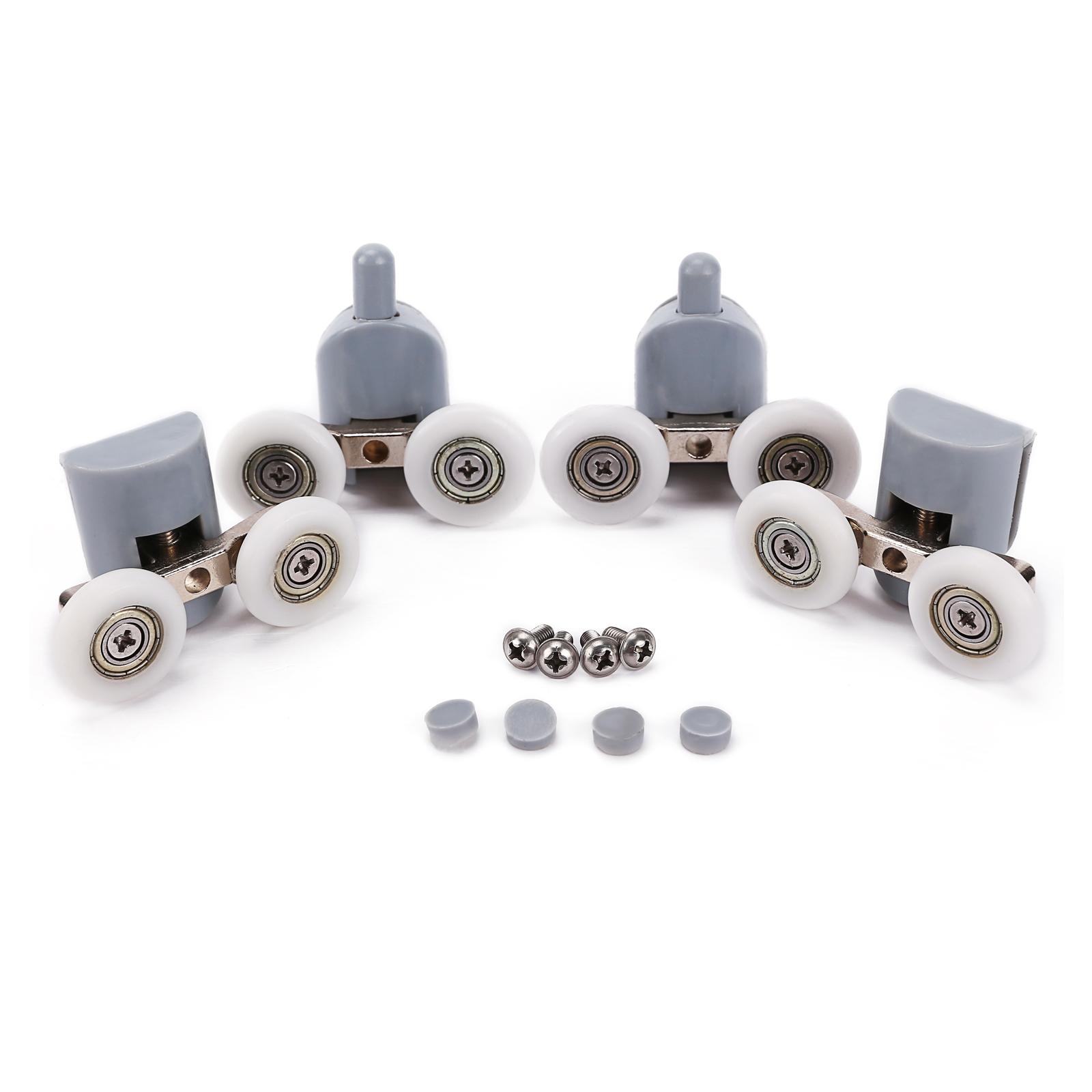 4x galet elastique ajustables dual rouleau roulette roue. Black Bedroom Furniture Sets. Home Design Ideas