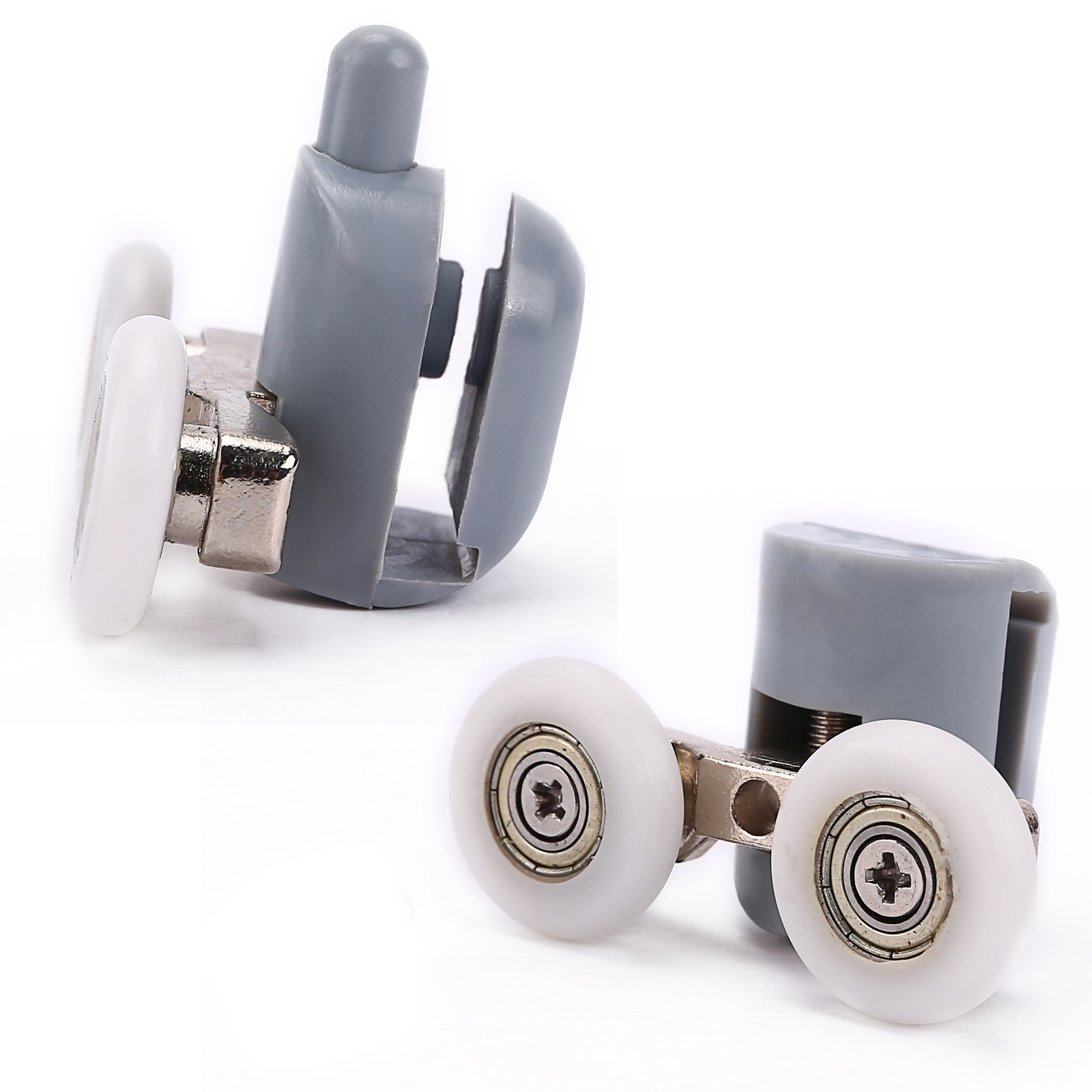 Duscht?r Rollen : Twin Runners Top Shower Door Rollers Wheels