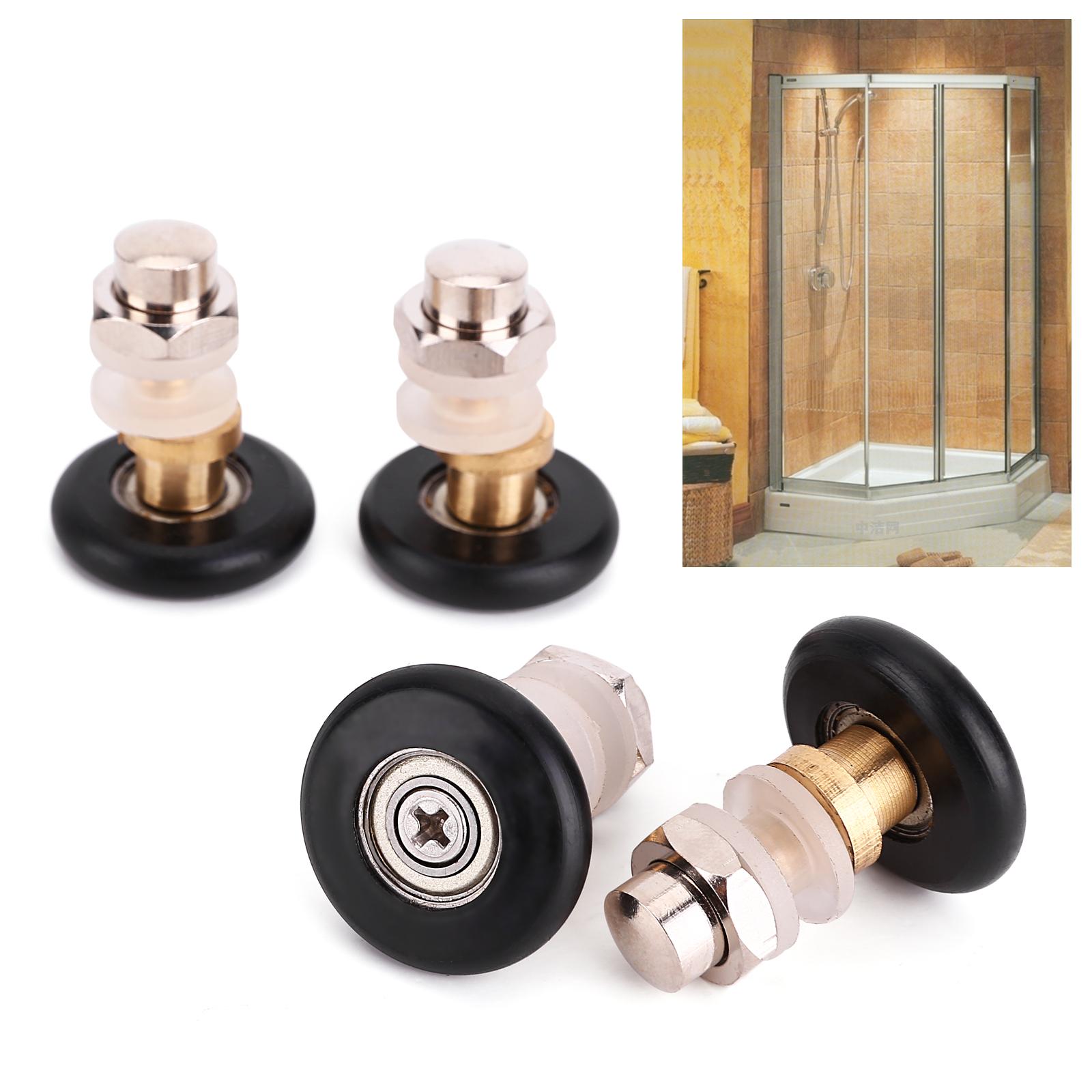 4 einzelne duscht r r der rolle t r rollen 27mm in duschkabine ebay. Black Bedroom Furniture Sets. Home Design Ideas