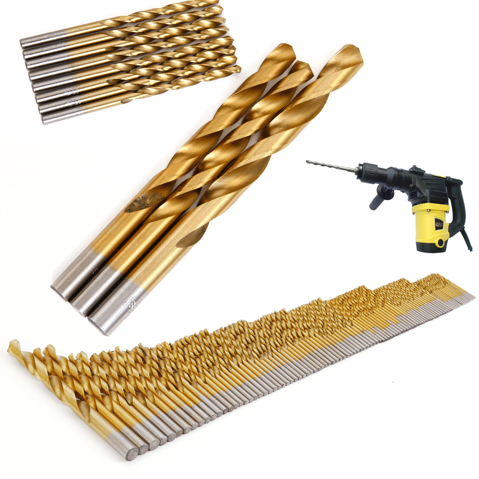 98pieces stainless metal cobalt hss co steel drill bit set. Black Bedroom Furniture Sets. Home Design Ideas
