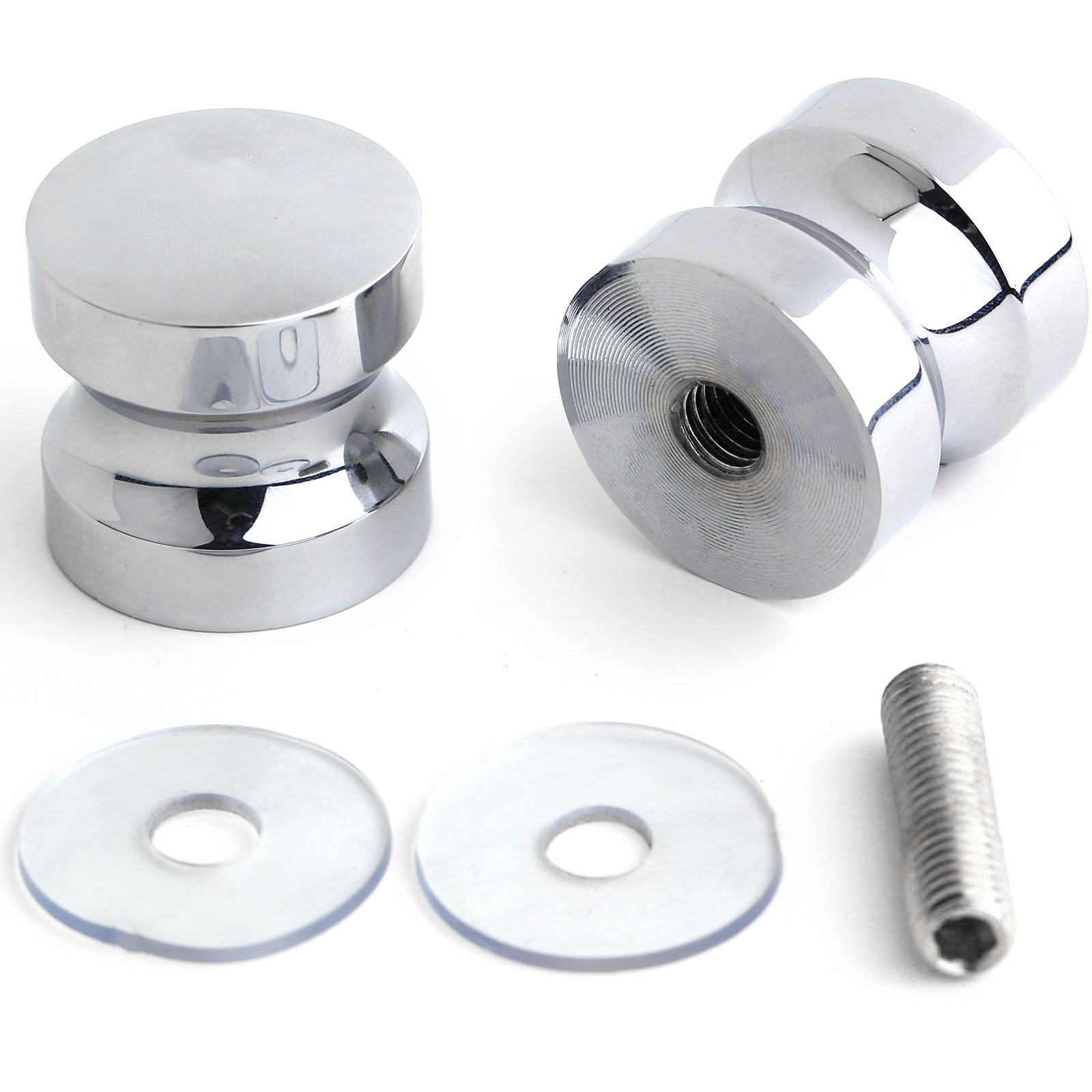 Bathroom Shower Knobs: 30mm Shower Bath Door Handle Knob Stainless Steel Silver