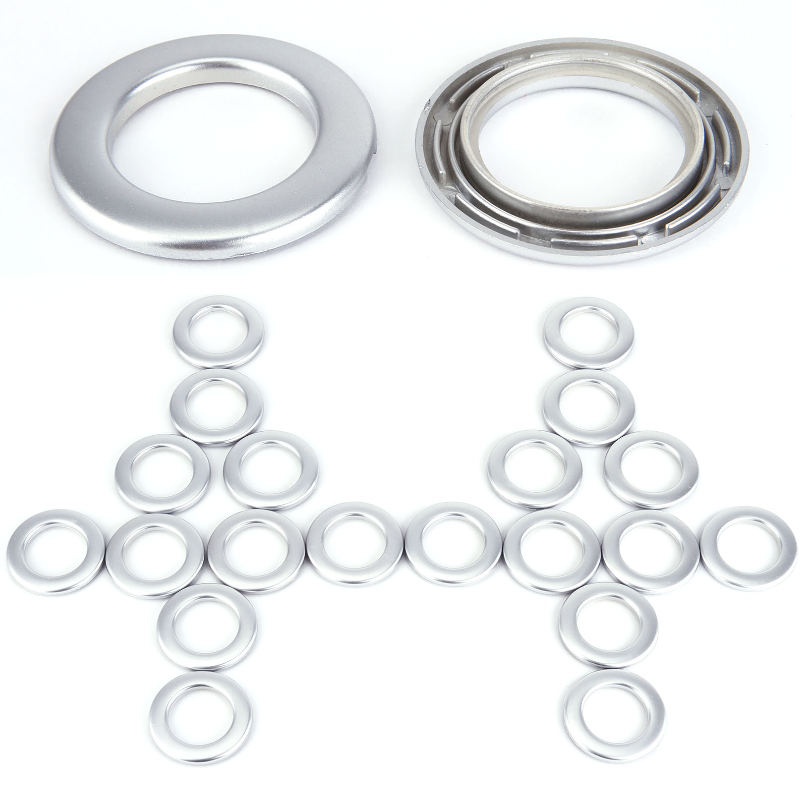 Set Of 20 Plastic Drapery Curtain Eyelets Rings Clips Grommets Ebay