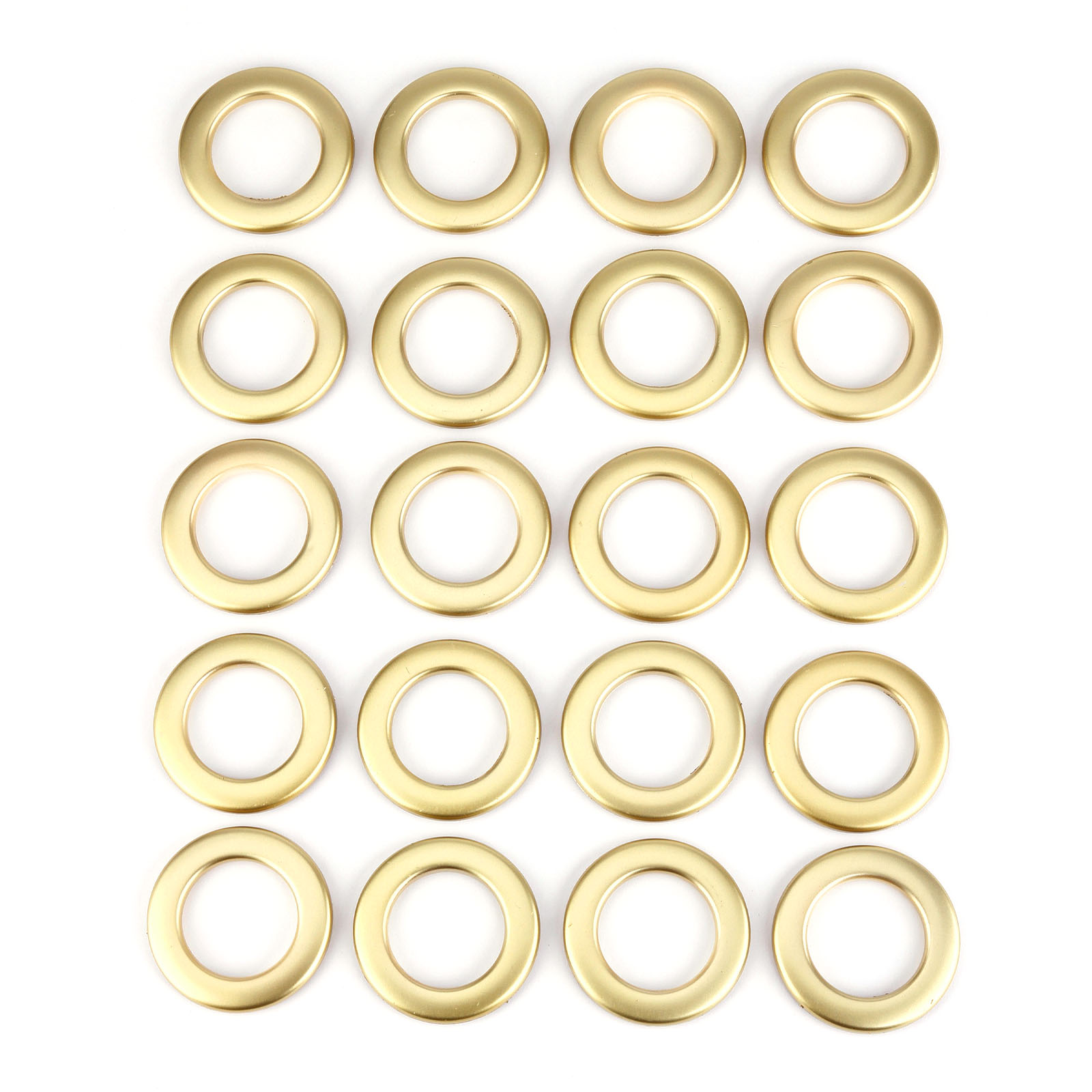 Plastic curtain clips - Set Of 20 Plastic Snap Drapery Curtain Eyelets Heading Rings Clips Grommets