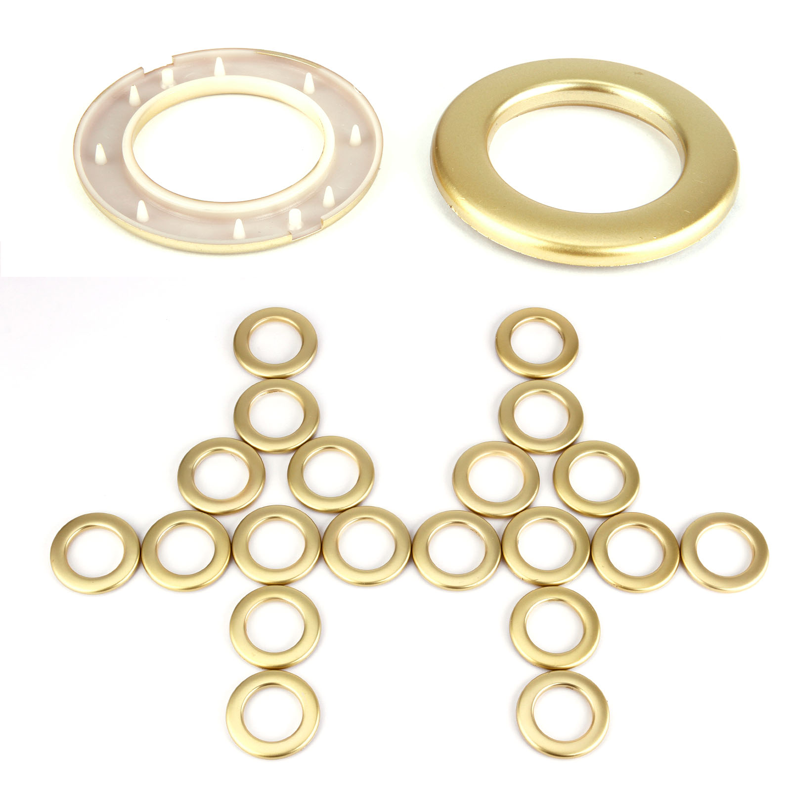 20x Round Snap Fix Ring For Eyelet Curtain Circle Slide