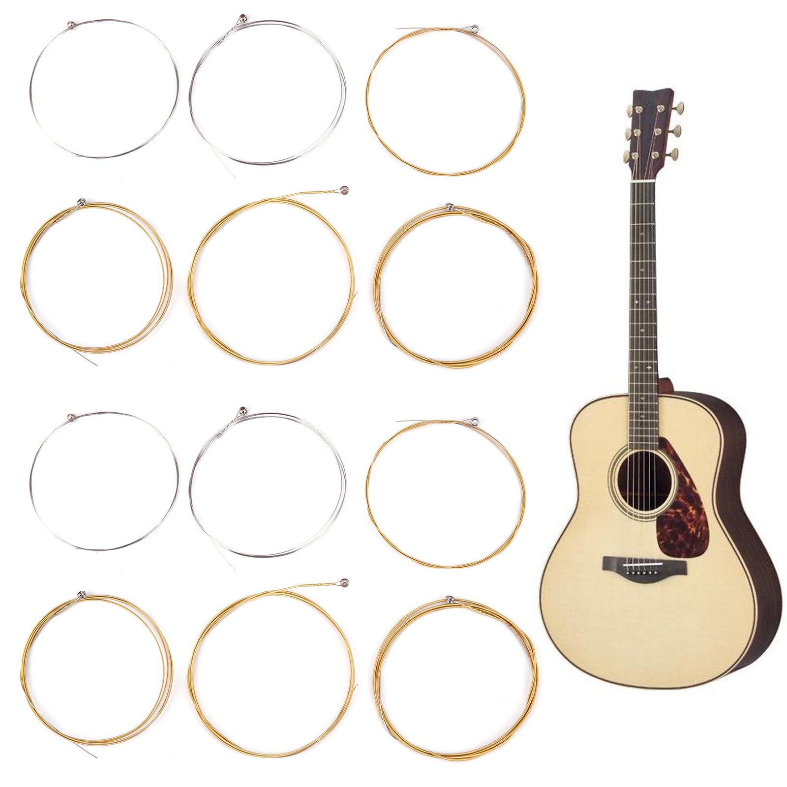 12 pcs acoustic guitar steel strings gauge accessories replacements ebay. Black Bedroom Furniture Sets. Home Design Ideas