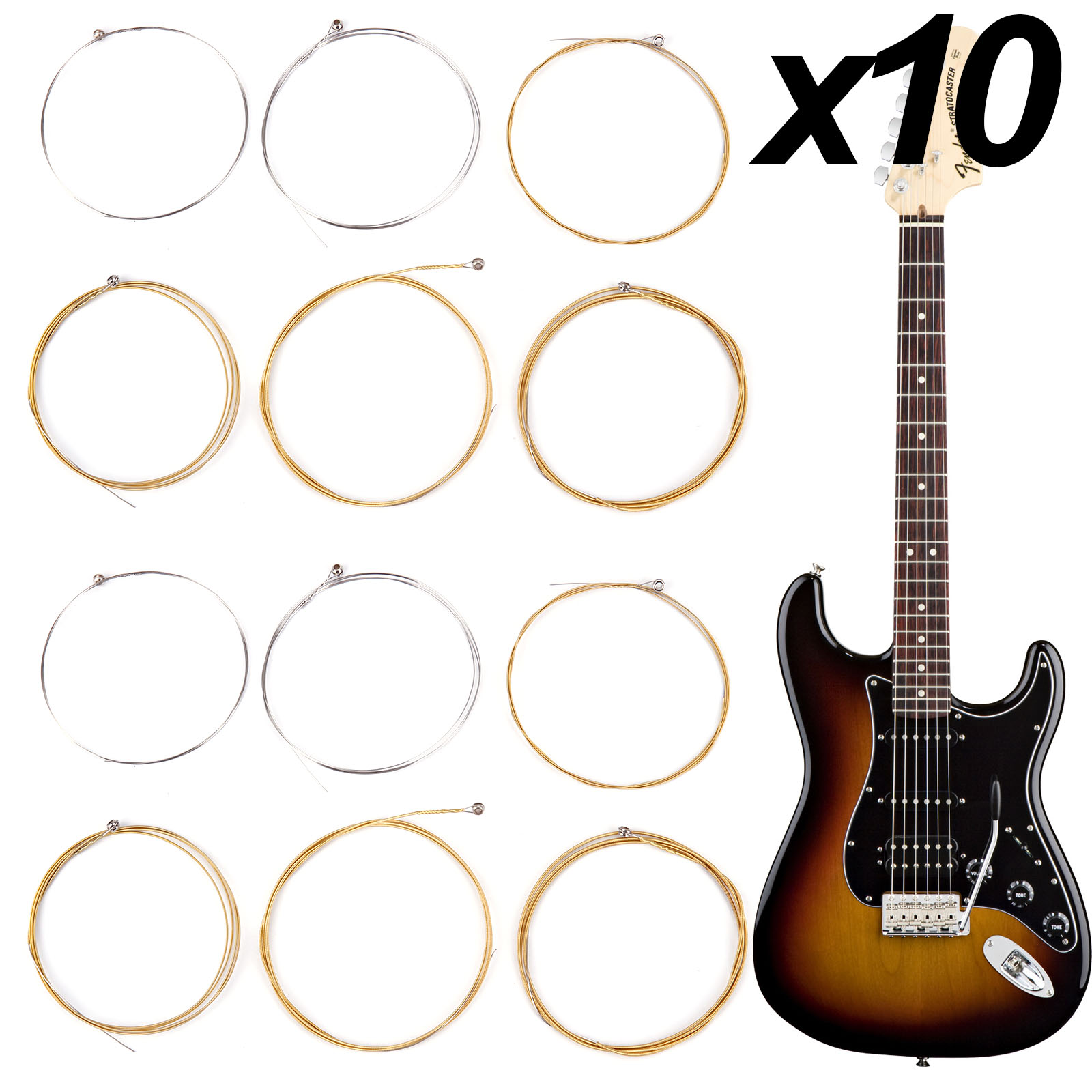 20 sets 120pcs acoustic guitar steel strings gauge accessories replacement ebay. Black Bedroom Furniture Sets. Home Design Ideas