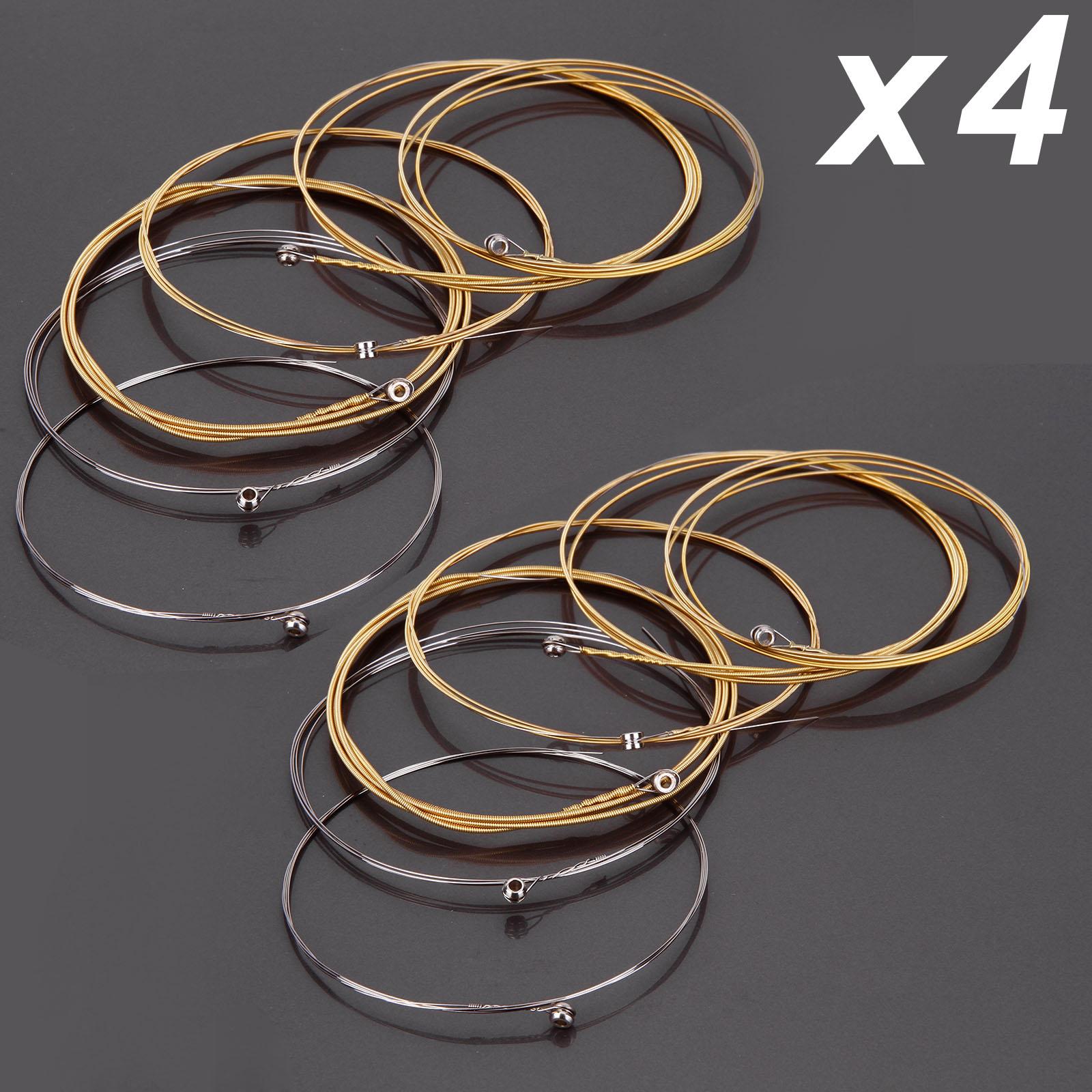 8 sets 48pcs acoustic guitar steel strings gauge accessories replacement ebay. Black Bedroom Furniture Sets. Home Design Ideas