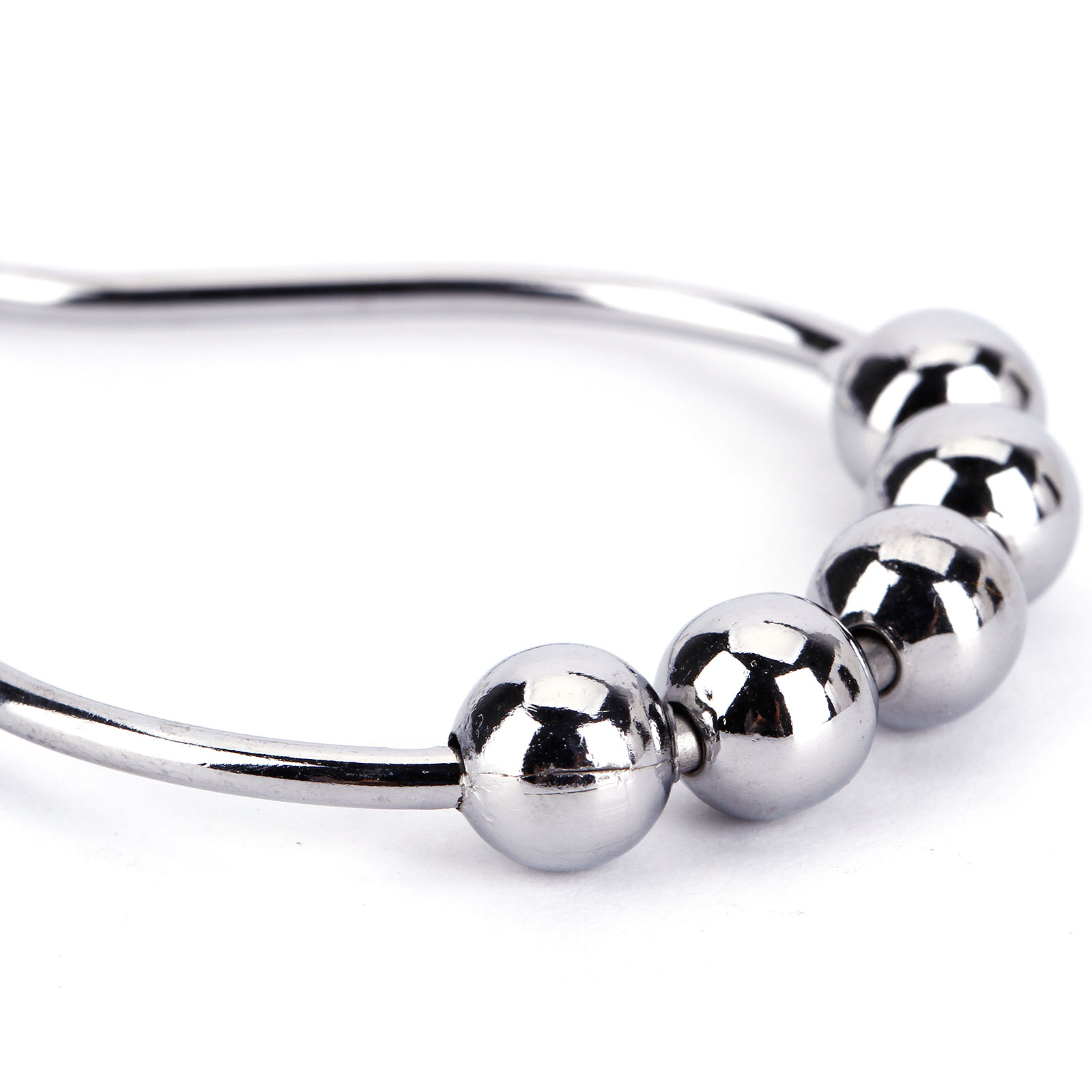 24pc Chrome Plated Ball Bead Shower Metal Curtain Rings Hooks Silver Ebay