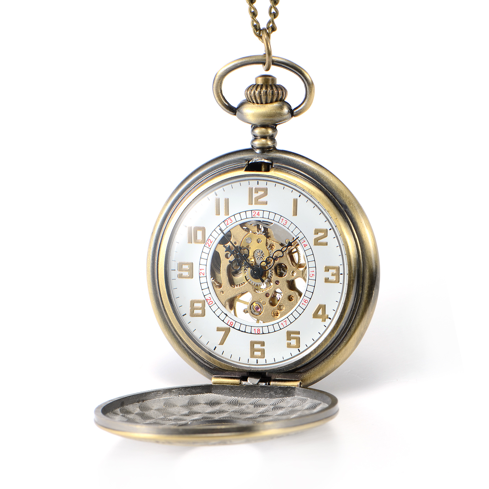 Antique Vintage Nostalgic Hand Winding Pocket Watch on ...