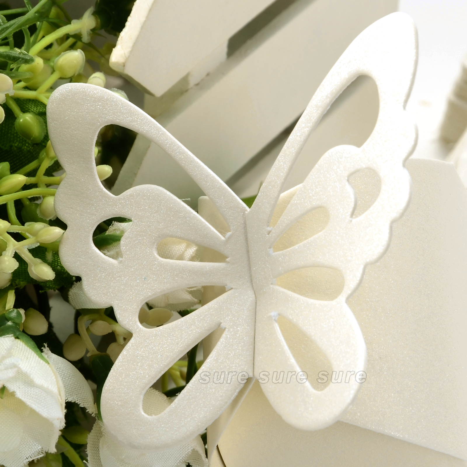 50 Pcs Butterfly Wedding Boxes Favor Gift Boxes Candy Cake