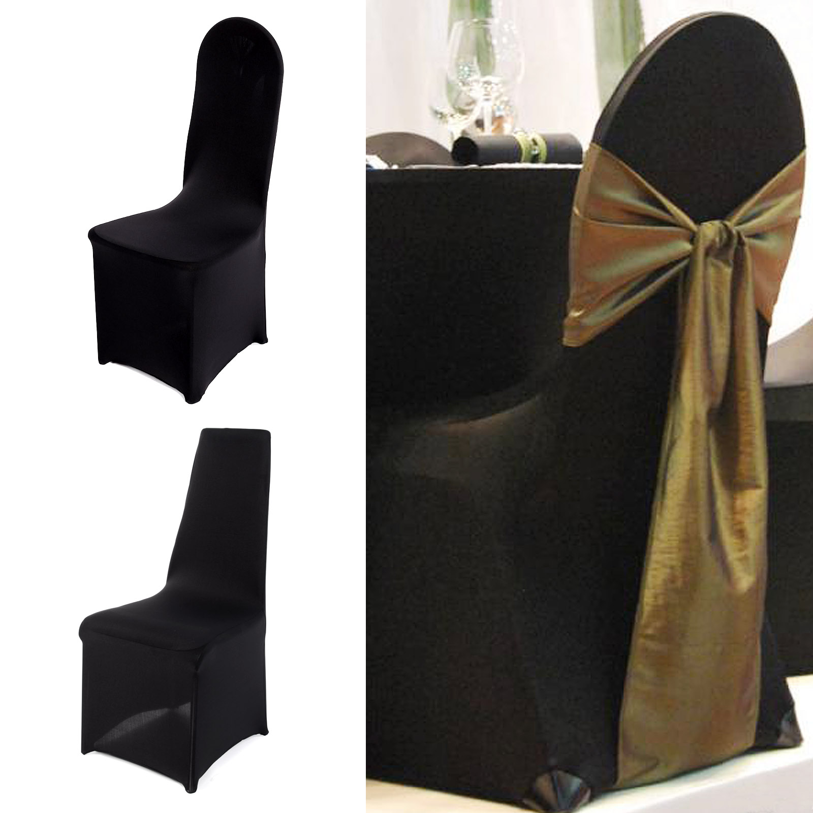 SPANDEX CHAIR COVER LYRCA COVERS BANQUET WEDDING RECEPTION PARTY FLAT FRONTED