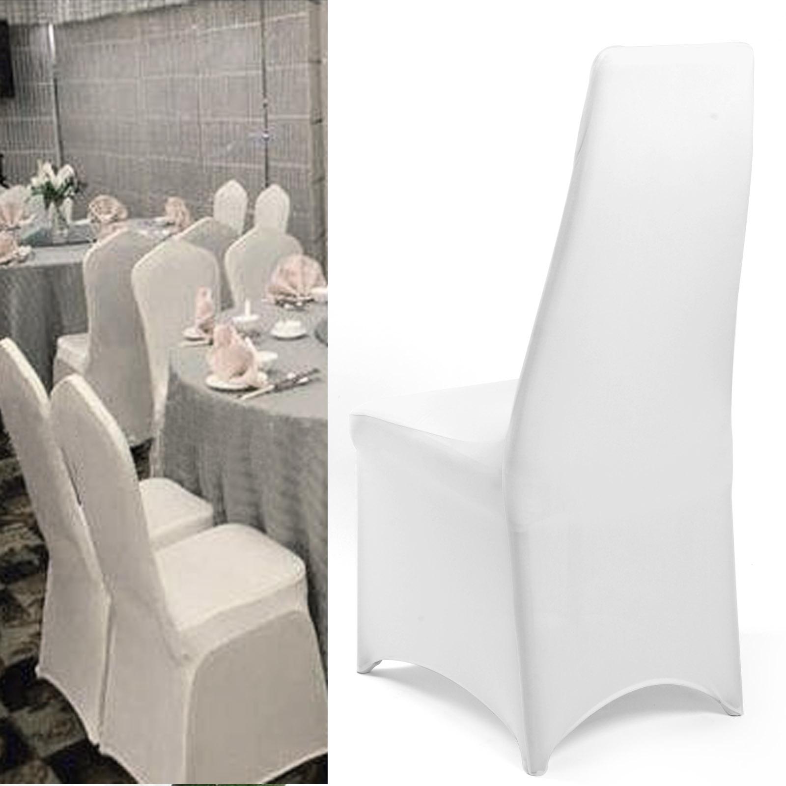 5 10 50pcs housse de chaise extensible spandex mariage soir e fete d cor no l ebay - Housse de chaise mariage lycra ...