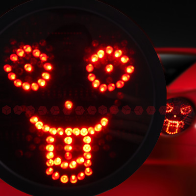 auto car led werbung fernbedienung lampe licht birne face gesicht outlet geschen ebay. Black Bedroom Furniture Sets. Home Design Ideas