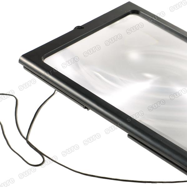 giant large hands free magnifier glass for reading crafts. Black Bedroom Furniture Sets. Home Design Ideas