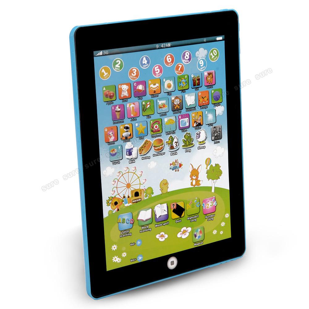 Blau kinder tablet spielzeug learncomputer learn