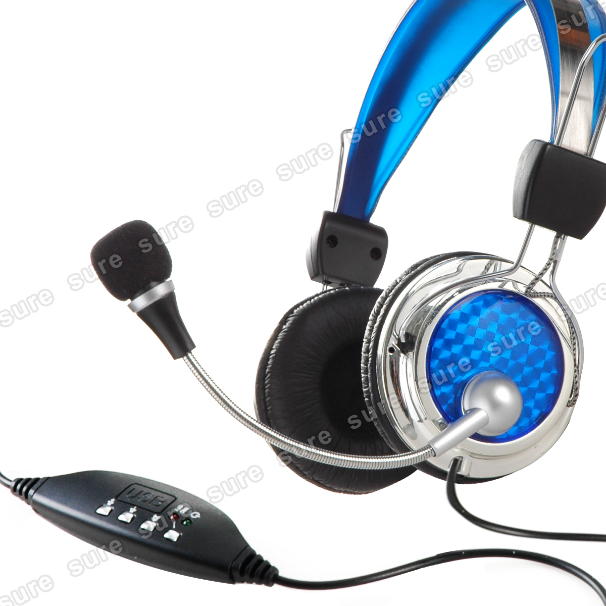 USB-Stereo-Headset-Kopfhoerer-Kopfbuegel-Mikrofon-Mic-fuer-Notebook-Laptop-PC