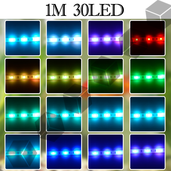 16 farben wechselbar 30 led 100 cm aquarium mondlicht licht beleuchtung flex ebay. Black Bedroom Furniture Sets. Home Design Ideas
