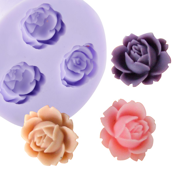 Cake Art Flower Moulding Paste : Silicone Icing Mould Cake Cupcake Flower Modeling ...
