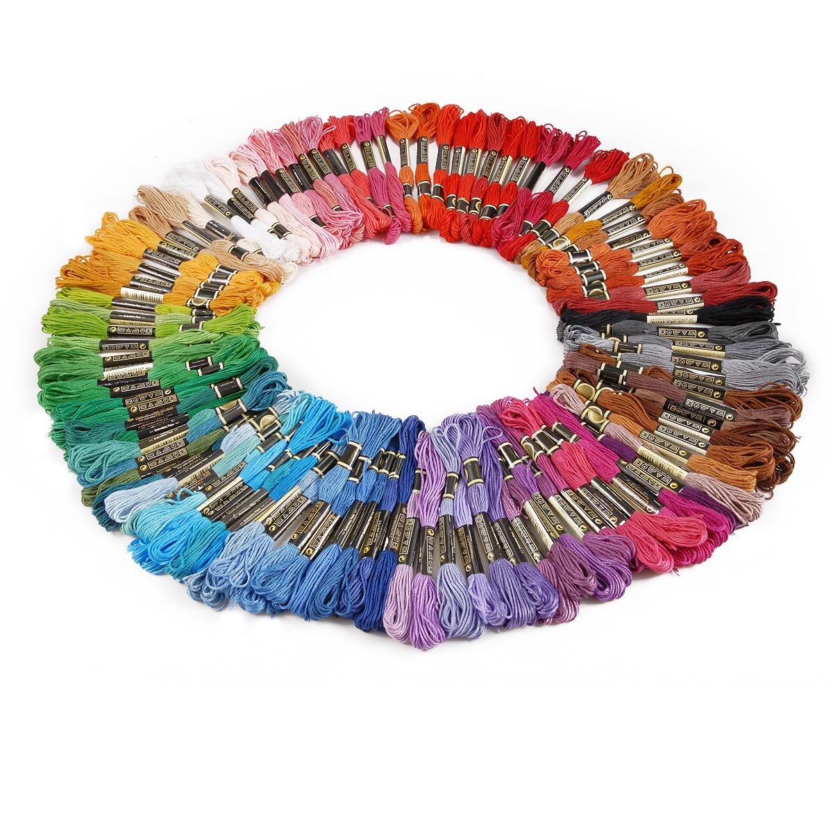 Lot multi colors cross stitch cotton embroidery thread