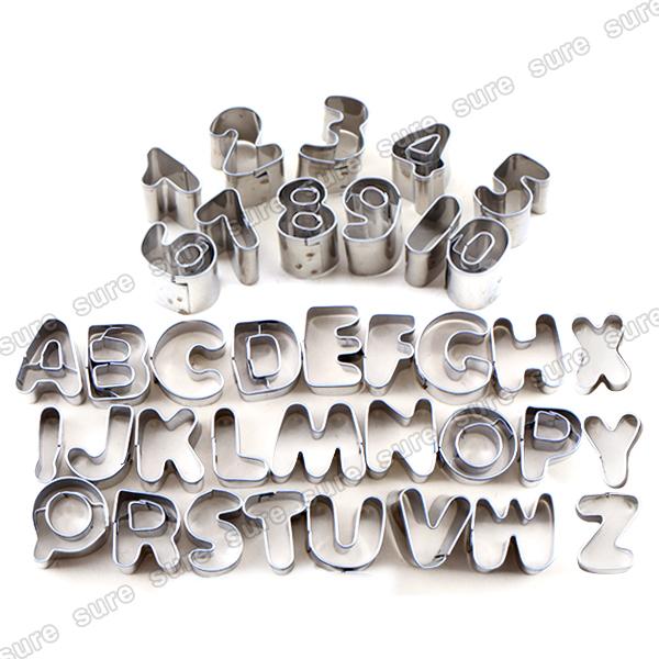 37 emporte pi ce lettre alphabet chiffre moule biscuit p te en acier inoxydable ebay. Black Bedroom Furniture Sets. Home Design Ideas